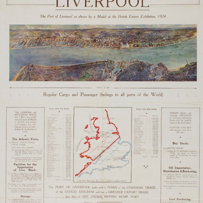 Port of Liverpool British Empire Exhibition Commemorative Pamphlet 1924, Peel Archives Ref: 2013/8/1.