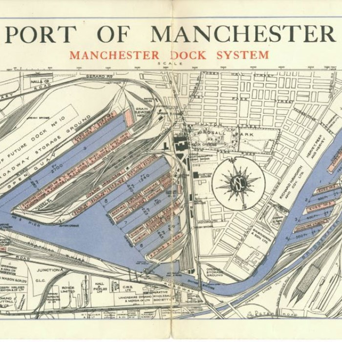 Port of Manchester: Manchester Dock System plan, c1940s.  Peel Archives: 2013/2/25.